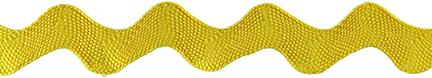 Jumbo Rick Rack Trim Yellow 1-1/8inX6ft