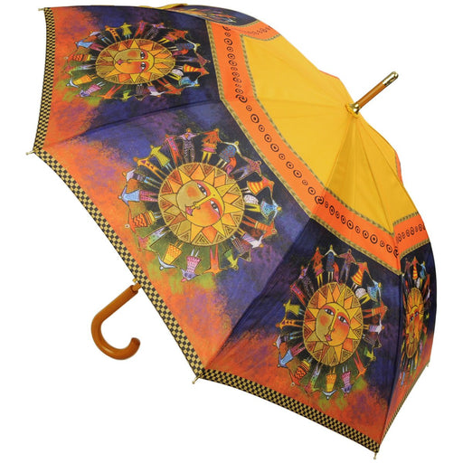Laurel Burch Stick Umbrella Harmony Under The Sun 42in