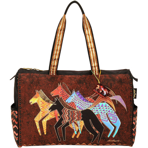 Travel Bag Zipper Top Native Horses 20.5inX8.25inX16in