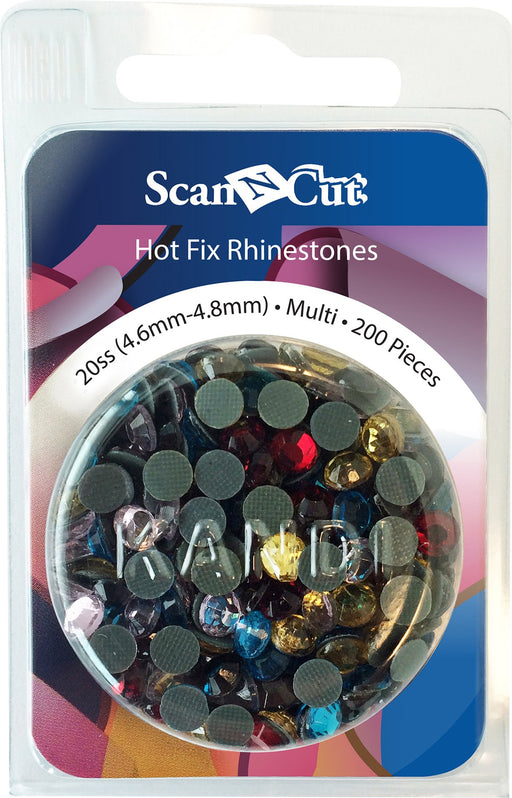 Brother ScanNCut Hot Fix Rhinestones Multi Color 4.6mm-4.8mm 200pcs