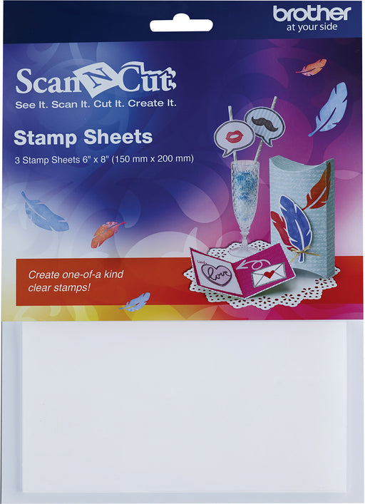 Brother ScanNCut Iron-On Transfer Flock Sheets Ylw Rd Blk Gry 8.5inX11in