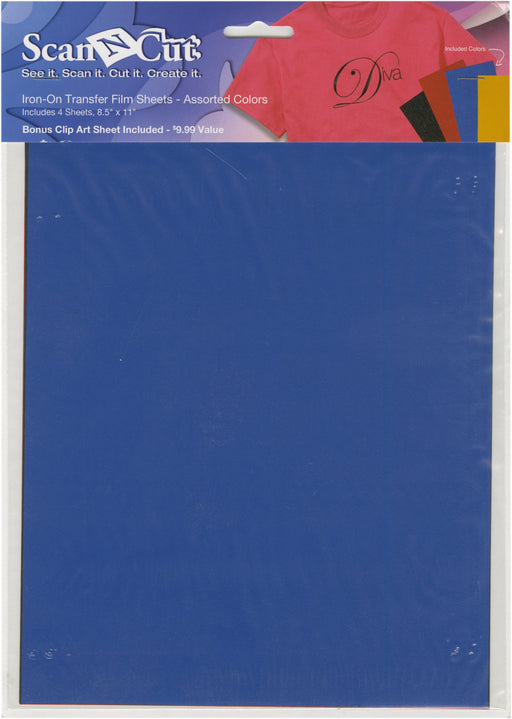 Brother ScanNCut Iron-On Transfer Film Sheets Asst 8.5inX11in
