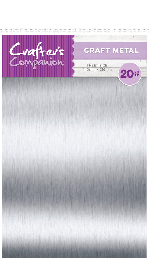 Crafter's Companion Craft Material Pack Thin Metal Sheets 20pk