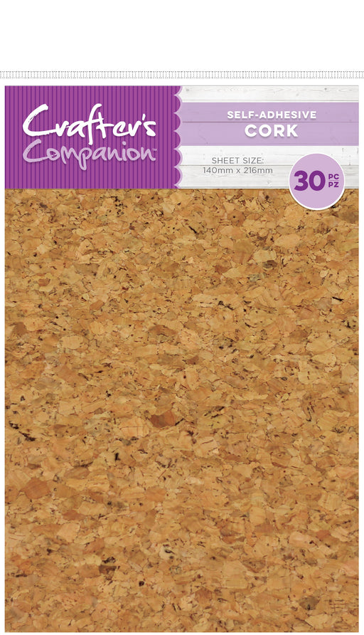 Crafter's Companion Craft Material Pack Cork Sheets 5.5inX8.5in 30pk