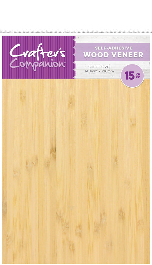 Crafter's Companion Wood Veneer Sheets Adhesive Back 15pk