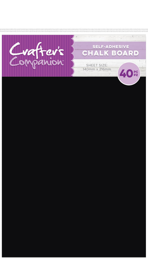Crafter's Companion Chalk Board Sheets Adhesive Back 5.5inX8.5in 40pk