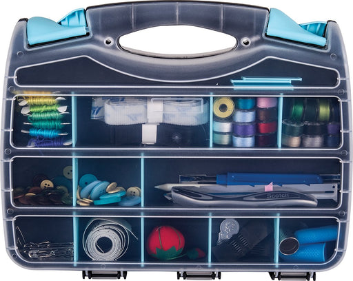 ArtBin Quick View Double with Removable Dividers 12.5in Aqua