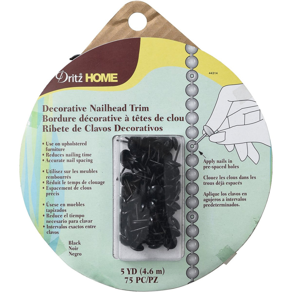 Dritz Home Decorative Nailhead Trim Black 5yds