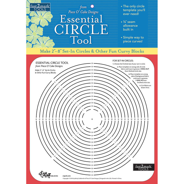 fast2mark tools essential circle tool quilting warehouse. Black Bedroom Furniture Sets. Home Design Ideas