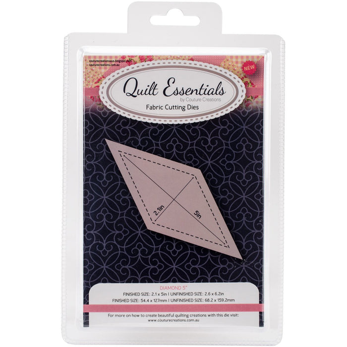 Couture Creations Quilt Essentials Quilting Die Diamond 5in