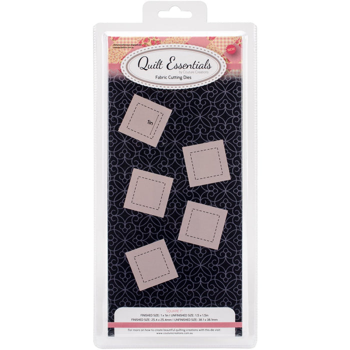 Couture Creations Quilt Essentials Quilting Die Square 1in