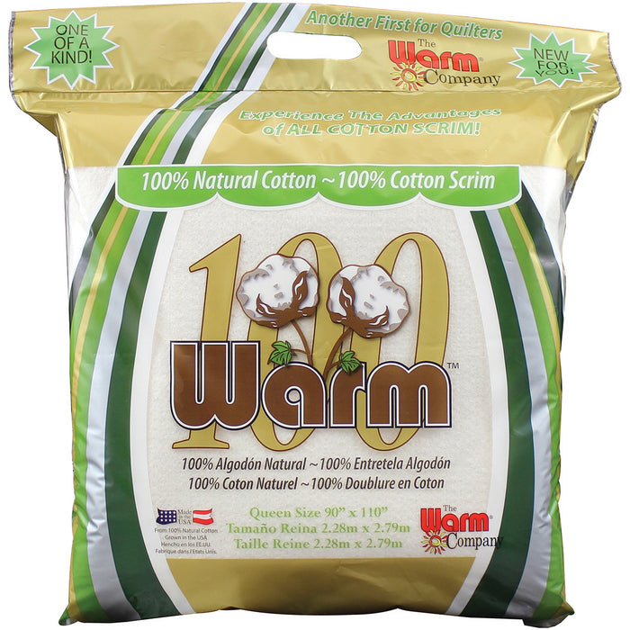 Warm 100 Cotton Batting Queen Size