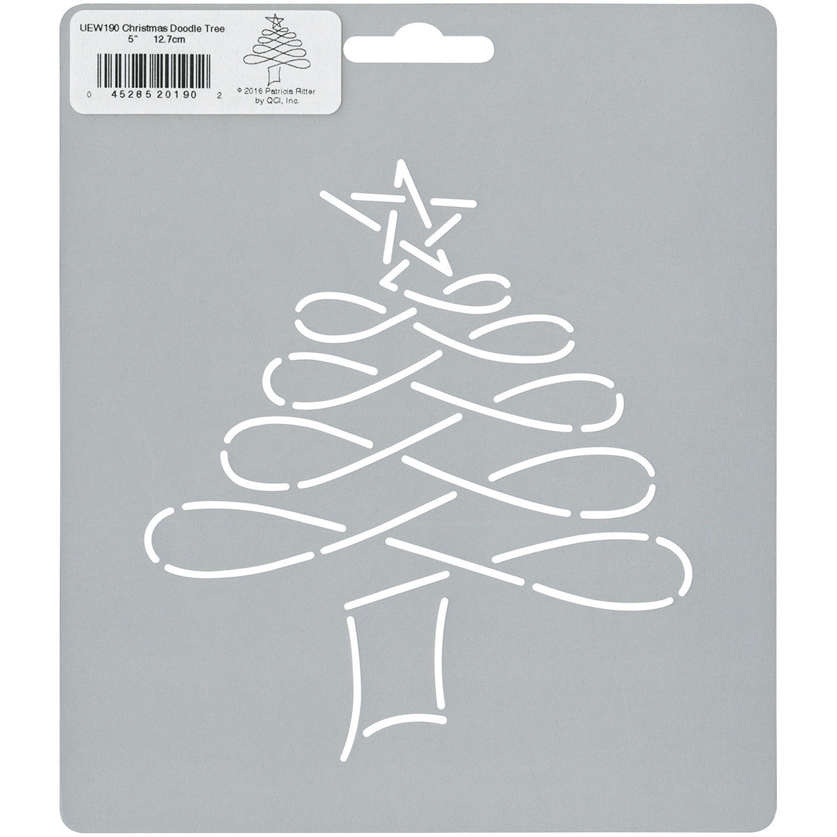 Quilt Stencils By Patricia Ritter Christmas Tree 7in - Quilting ...