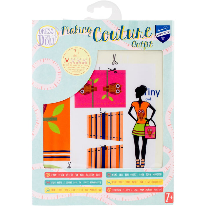 Dress Your Doll Making Couture Outfit Set Tiny Owl