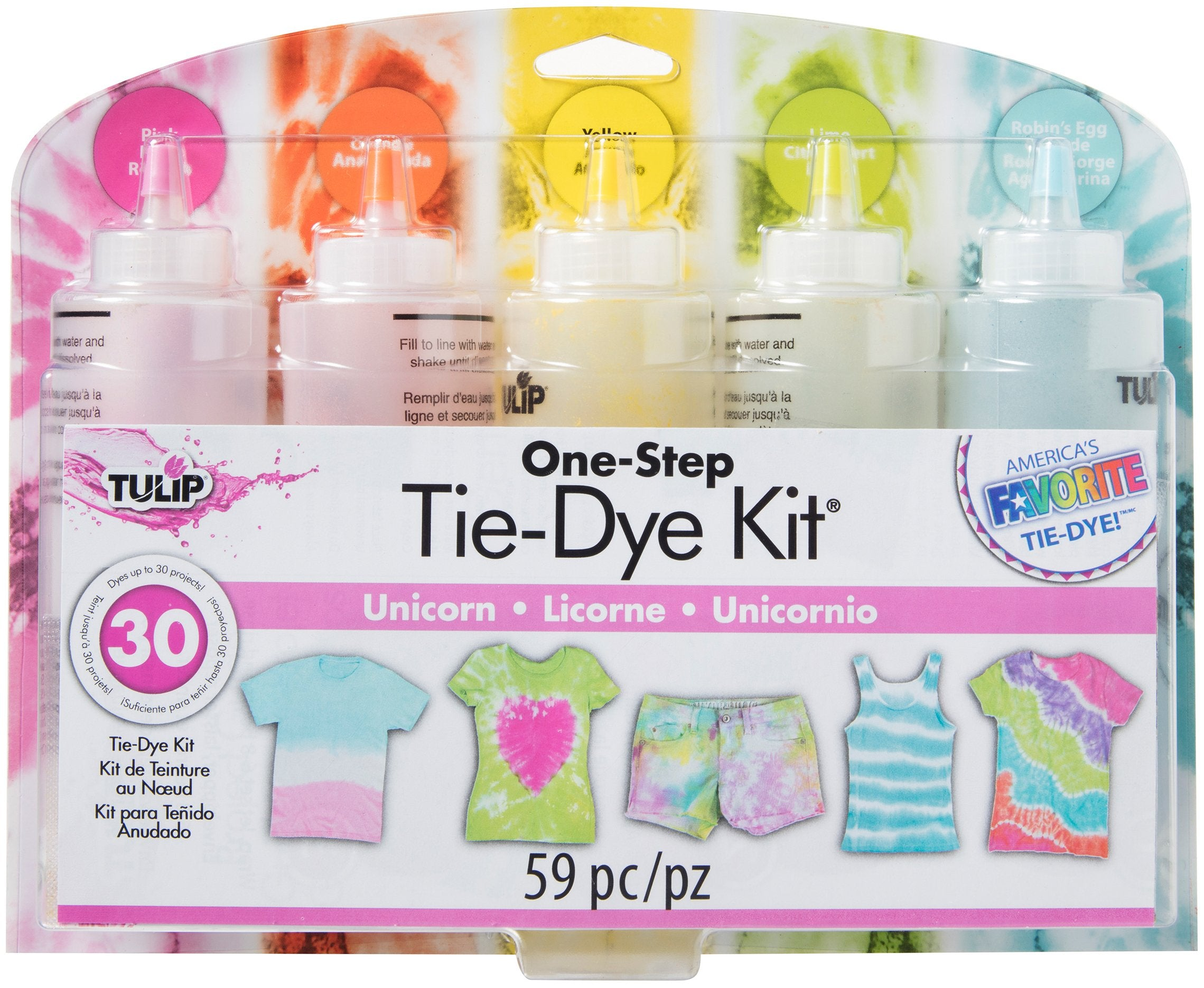 Tulip One Step Tie Dye Kit 5 Color Unicorn Quilting Warehouse