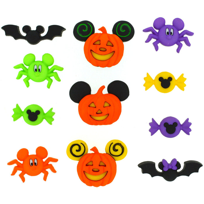 Dress It Up Licensed Embellishments Disney Mickey and Minnie Halloween