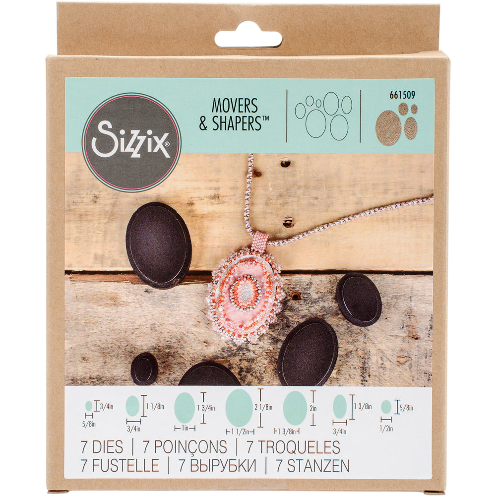 Sizzix Movers & Shapers Magnetic Dies Ovals 7pk
