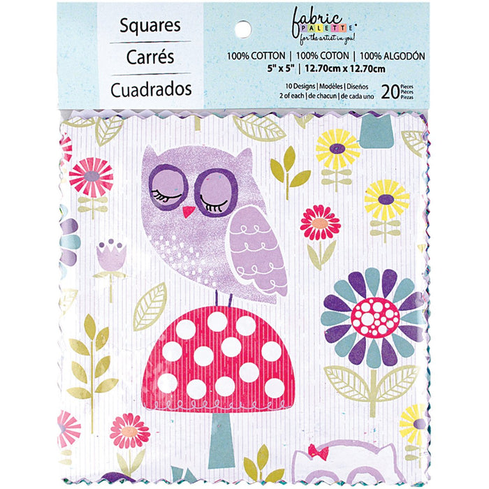 Fabric Palette Charm Pack Pookie Luna 5inX5in 20pk