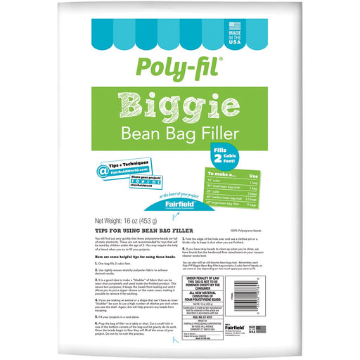 Poly-Fil Biggie Bean Bag Filler 16oz