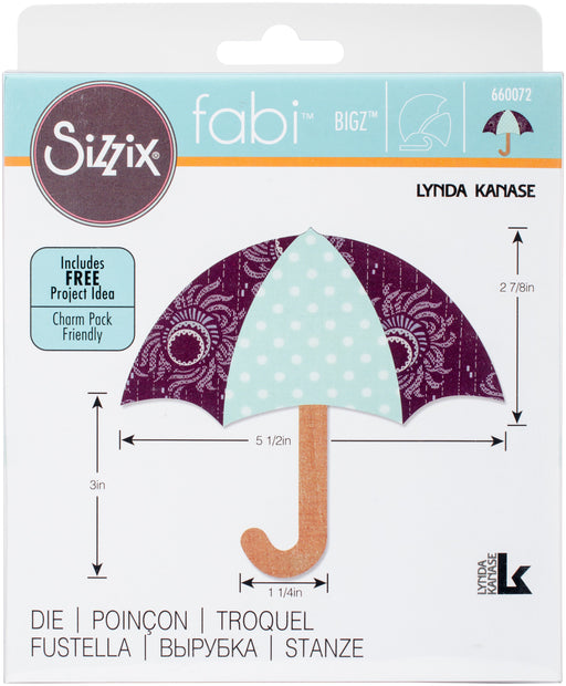 Sizzix Bigz Dies Fabi Edition Umbrella #3 By Lynda Kanase