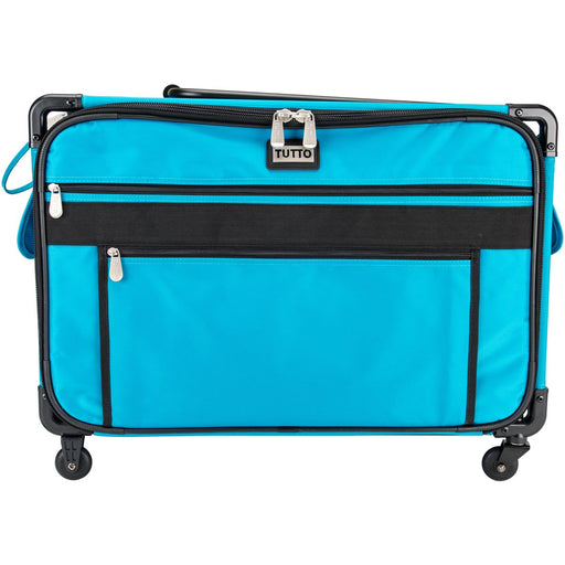 Tutto Machine On Wheels Case Turquoise 23inX14.25inX14in