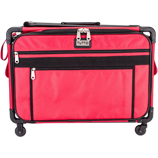 Tutto Machine On Wheels Case Red 23inX14.25inX14in