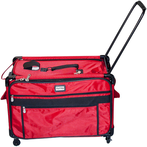 Tutto Machine On Wheels Case Red 27inX16.25inX14in