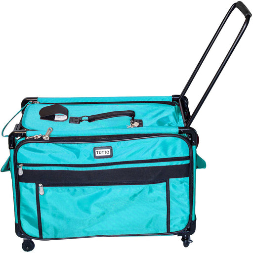 Tutto Machine On Wheels Case Turquoise 27inX16.25inX14in
