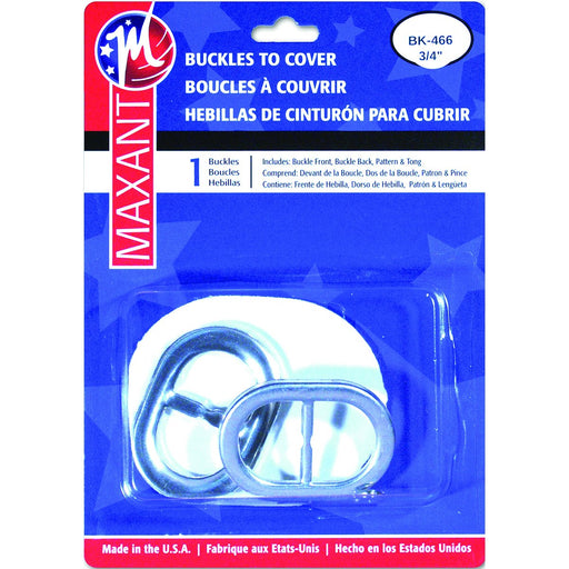 Buckle Cover Kit Oval .75in