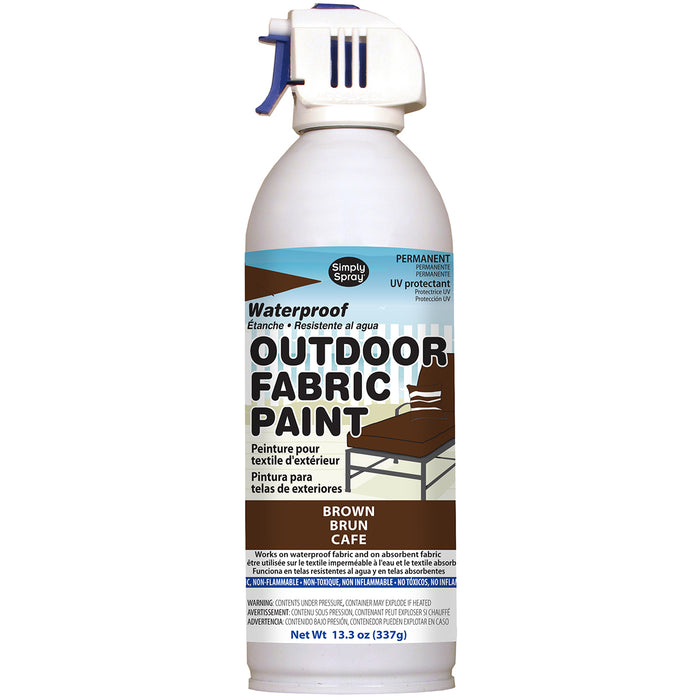Outdoor Spray Fabric Paint Brown 13.3oz