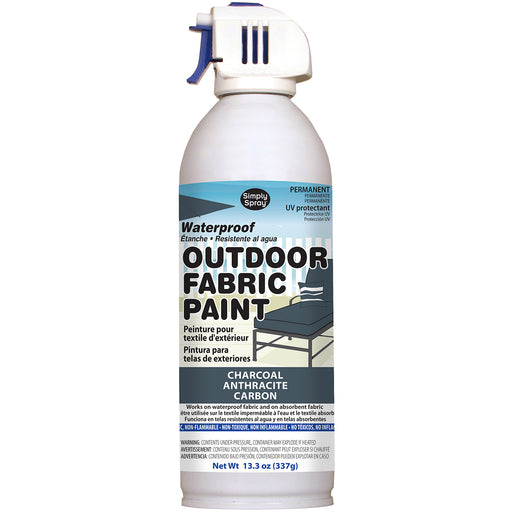 Outdoor Spray Fabric Paint Charcoal 13.3oz