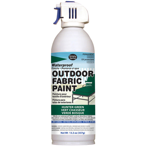 Outdoor Spray Fabric Paint Hunter Green 13.3oz