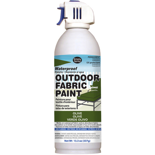 Outdoor Spray Fabric Paint Olive 13.3oz