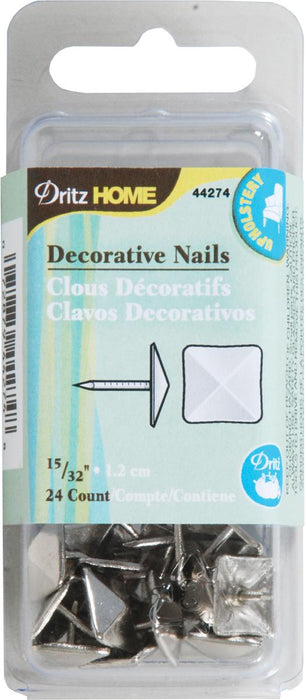Upholstery Decorative Nails 15/32in Silver Square