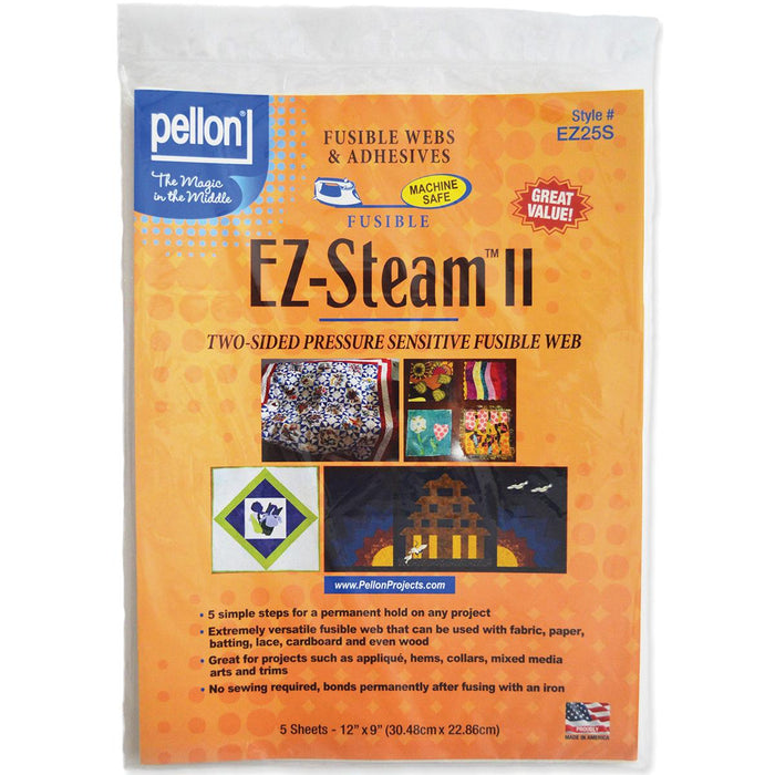 Pellon EZ Steam II White 12inx9in Sheets 5/pkg