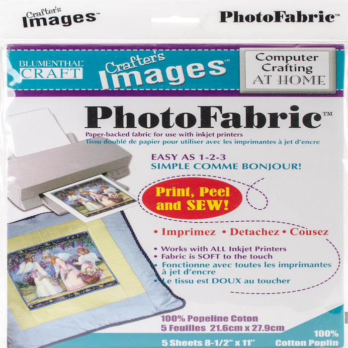 Crafter's Images Photofabric Cotton Poplin 100% Cotton 8.5inX11in 5pk