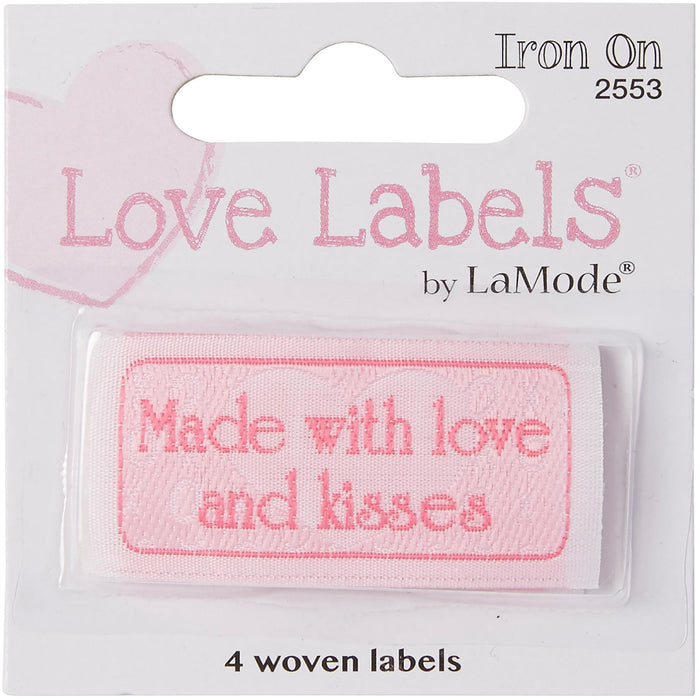 Quilting Labels Iron-On Lovelabels Made With Love And Kisses