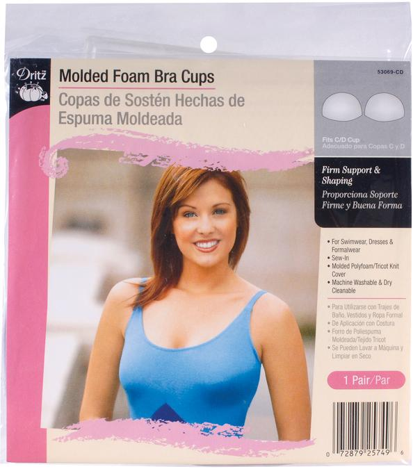 Molded Foam Bra Cups Fits C/D Cup