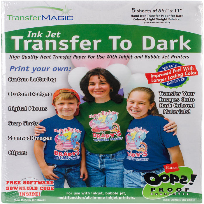 Ink Jet Transfer Paper For Dark Fabrics 8.5inX11in 5pk