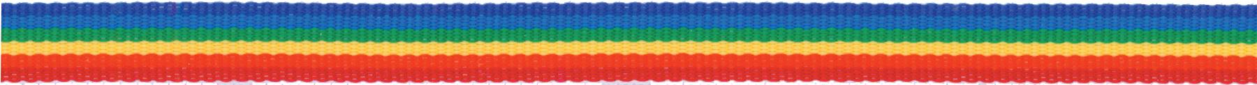 Stripe Ribbon Rainbow 3/8in