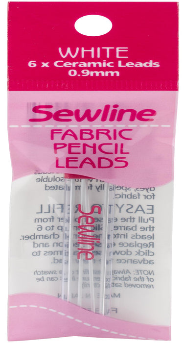 Sewline Mechanical Fabric Pencil Lead Refill White 6/Pkg