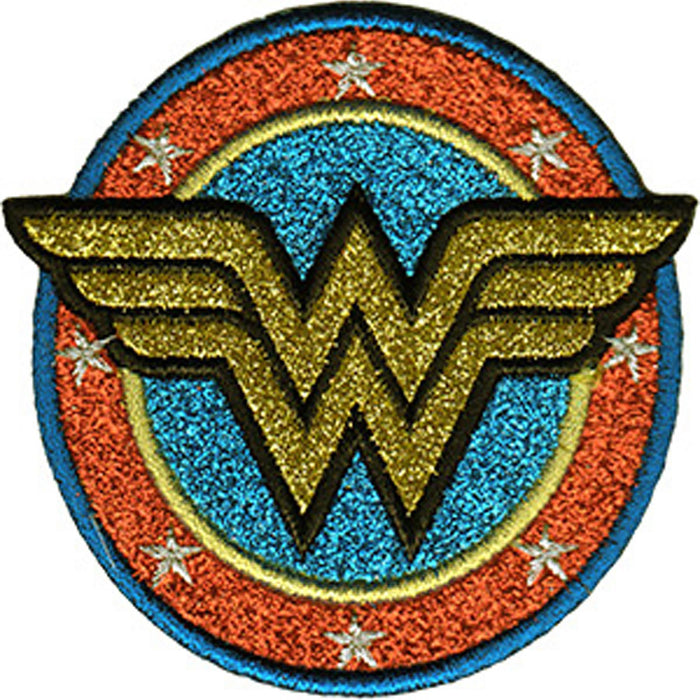 C&D Visionary DC Comics Patch Wonder Woman Shield with Glitter