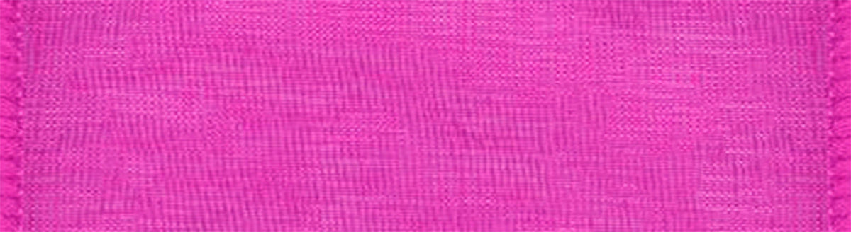 Chiffon Wired Ribbon Cerise 1inX25yds