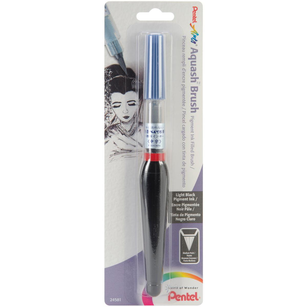 Pentel Arts Aquash Water Brush W/Pigment