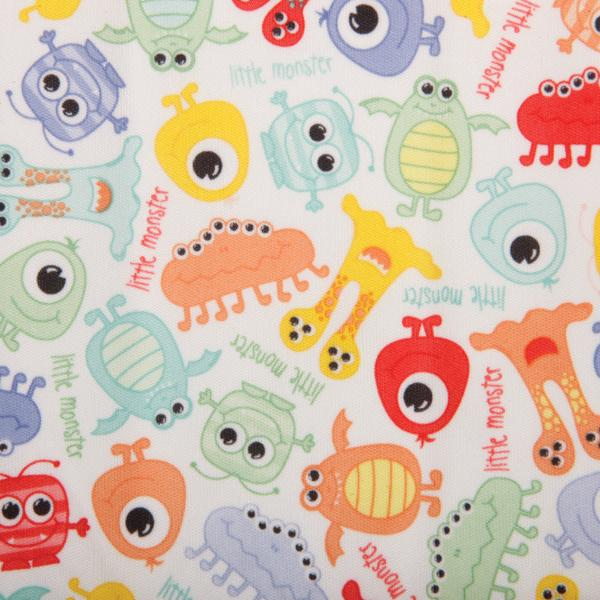 Babyville PUL Waterproof Diaper Fabric 64inX6yds D/R Monsters