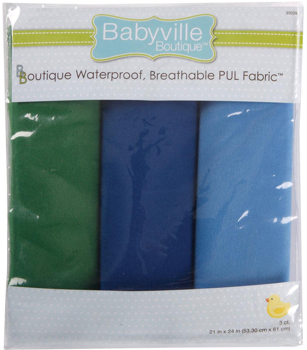 Babyville Waterproof Diaper Fabric PUL Boy Solids