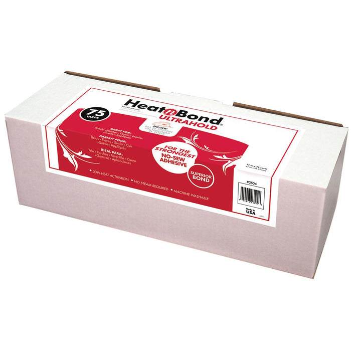HeatnBond Fusible Web Bolt White Ultrahold No Sew 75 Yds