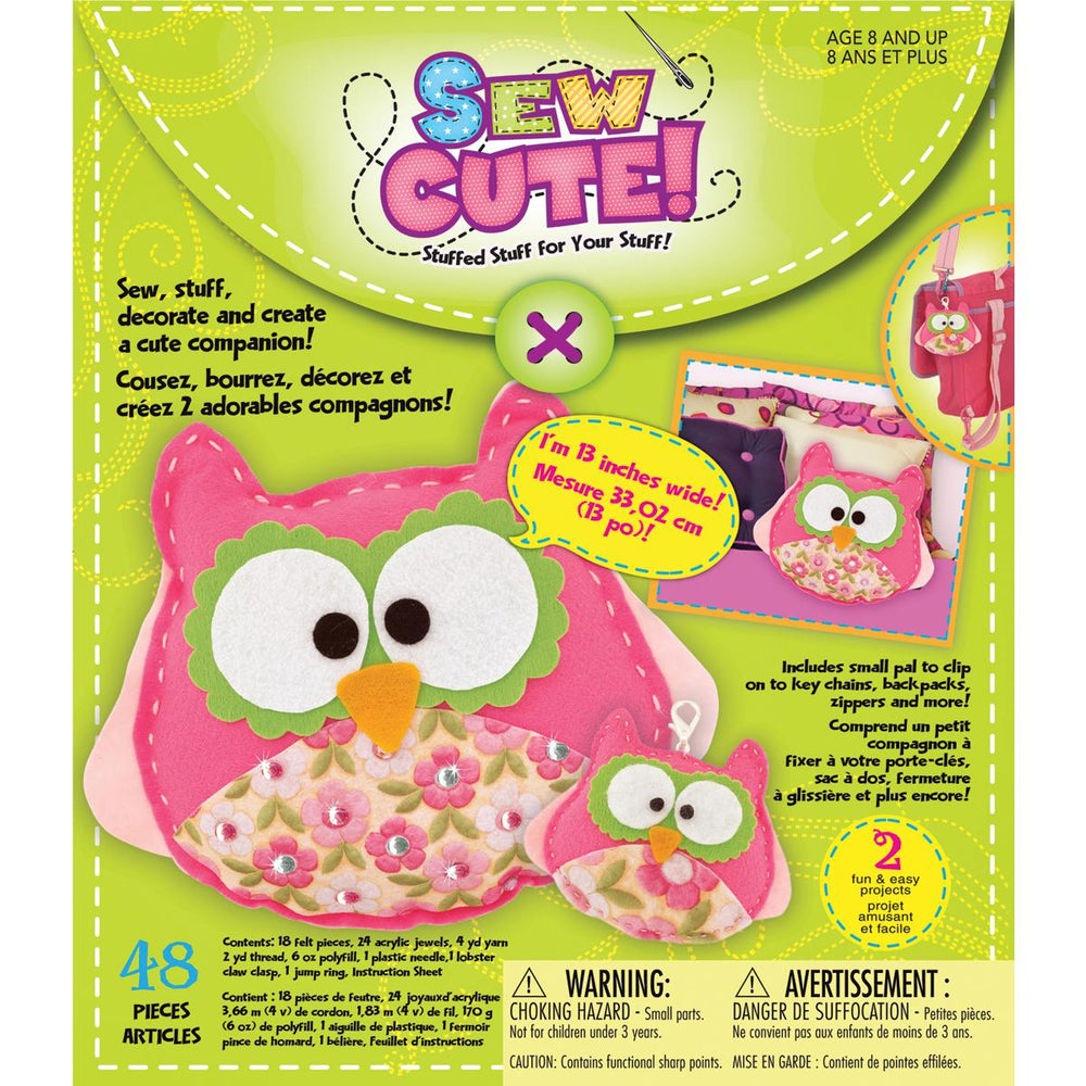 Owl Sew Cute! Felt Kit-