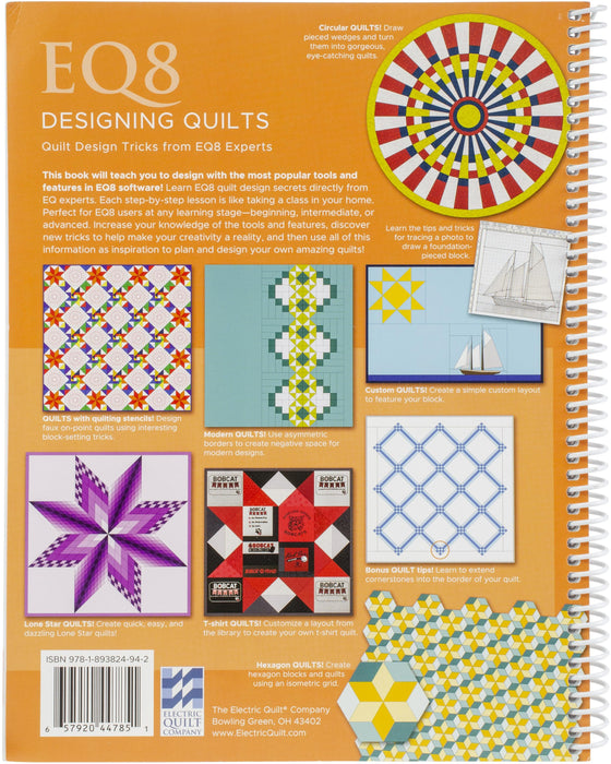 EQ8 Designing Quilts Softcover Book Spiral Bound Full Color