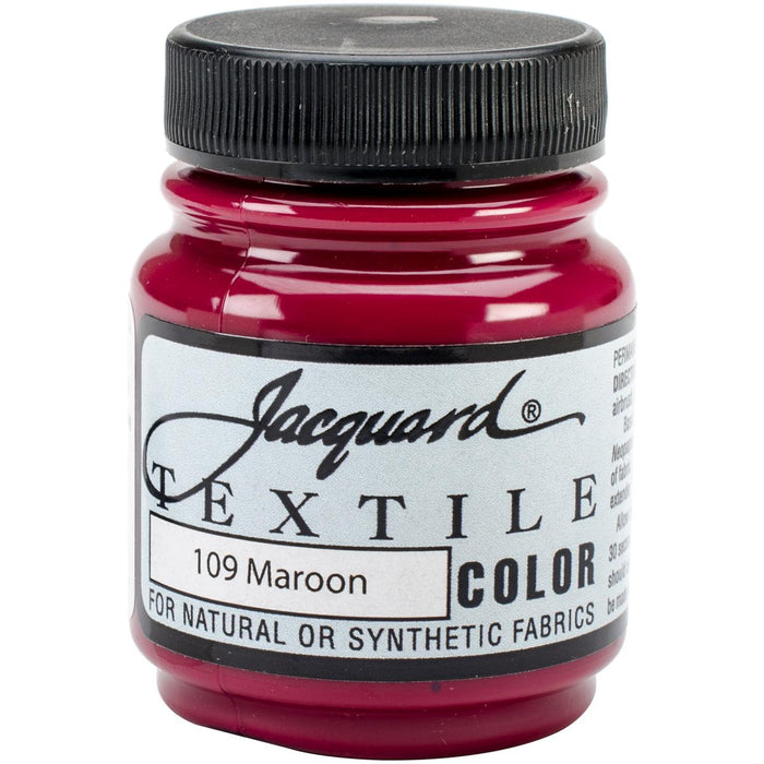 Jacquard Textile Color Fabric Paint 2.25oz Maroon